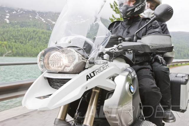 AltRider Clear Headlight Guard Kit for the BMW R 1200 GS (2003-2012) - Action Shot