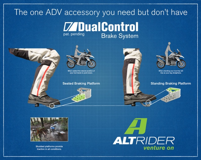 AltRider DualControl Brake System for the Kawasaki KLR 650 (2011 and Newer) - Additional Photos
