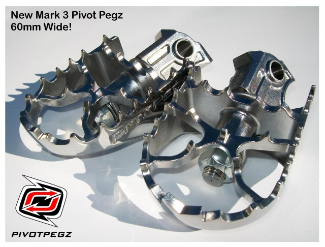 Pivot Pegz WIDE MK3 for BMW F 650 GS (Single + Twin) & F 800 GS - Feature