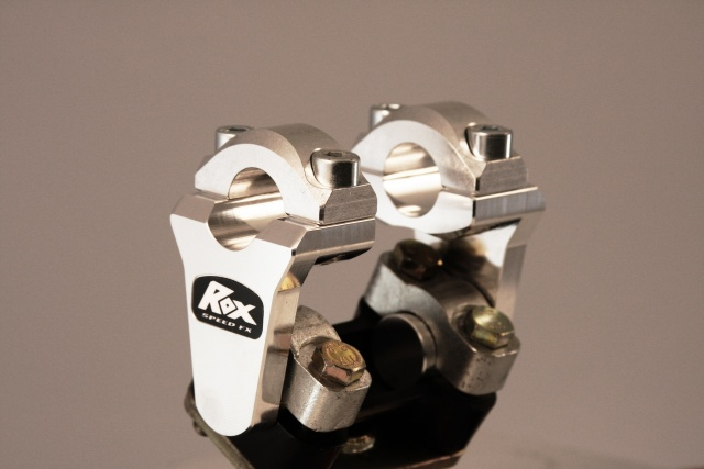 "ROX 2"" Pivoting Bar Risers for 7/8"" Handlebar - Silver - Feature"