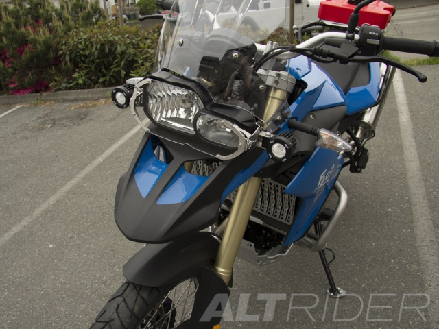 AltRider Clear Headlight Guard Kit for the BMW F 650 GS - Installed
