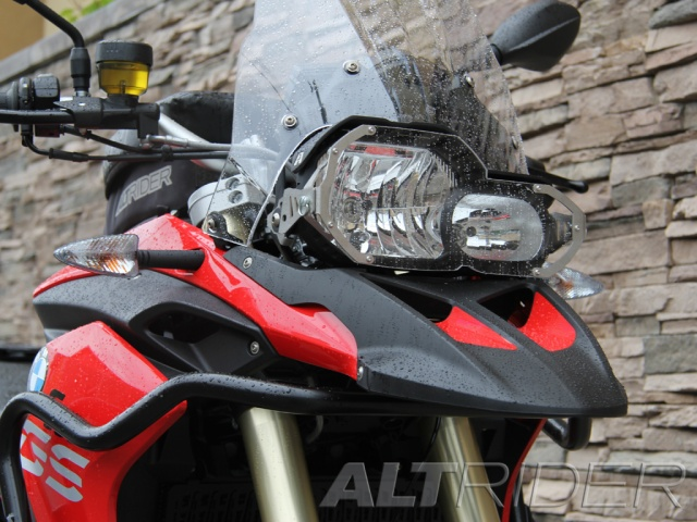 AltRider Clear Headlight Guard Kit for the BMW F 800 GS - Installed