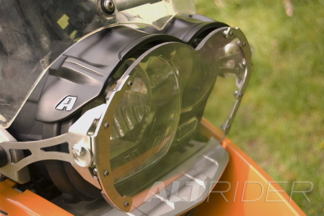 AltRider Clear Headlight Guard Kit for the BMW R 1200 GS (2003-2012) - Installed