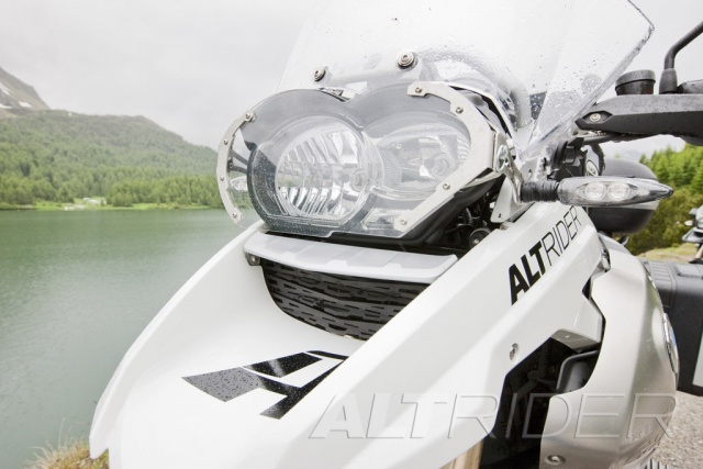 AltRider Headlight Guard Kit with Lexan and Stainless Faces for BMW R 1200 GS - Installed