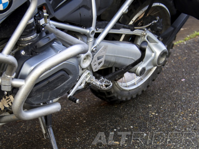 AltRider Left Heel Guard for the BMW R 1200 & R 1250 GS /GSA Water Cooled - Installed