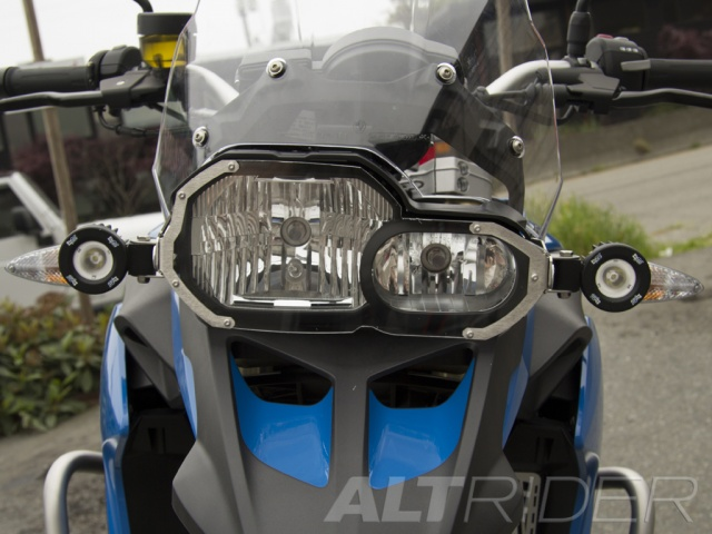 AltRider Lexan Headlight Guard Kit for the BMW F 650 GS / F 700 GS - Installed