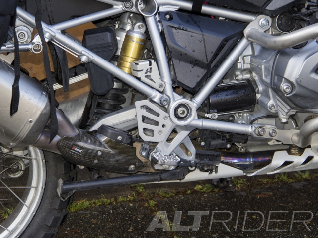 AltRider Rear Brake Master Cylinder Guard for the BMW R 1200 GS Water Cooled - Installed