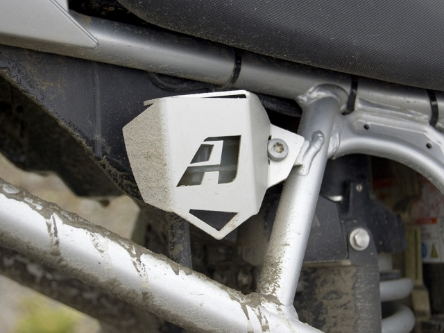 AltRider Rear Brake Reservoir Guard for BMW R 1200 GS (2003-2012) - Installed