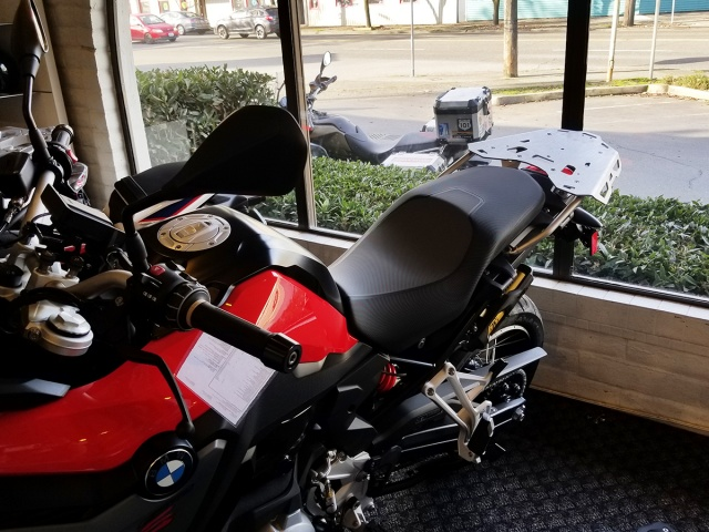 AltRider Rear Luggage Rack for the BMW F 850 / 750 GS - Installed