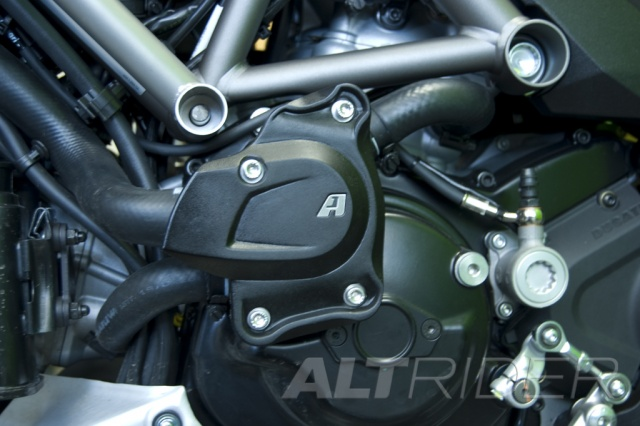 AltRider Water Pump Guard for Ducati Multistrada 1200 (2010-2014) - Installed