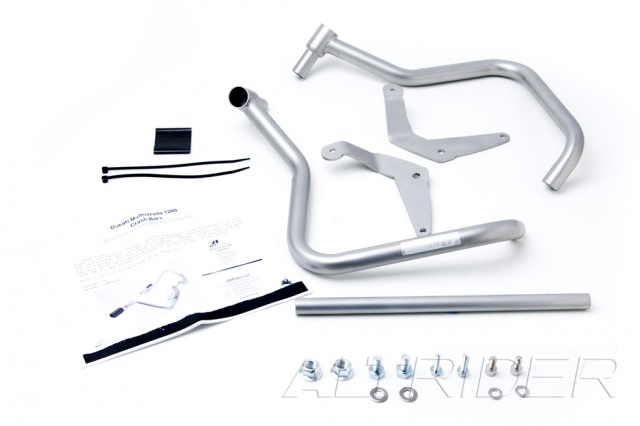AltRider Crash Bars and Frame Slider Kit for Ducati Multistrada 1200 - Product Contents