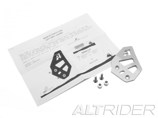 AltRider Left Heel Guard for the BMW R 1200 & R 1250 GS /GSA Water Cooled - Product Contents