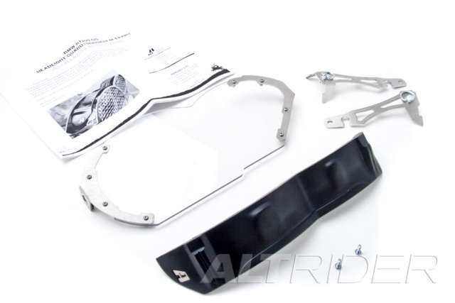 AltRider Lexan Headlight Guard Kit for the BMW R 1200 GS - Product Contents