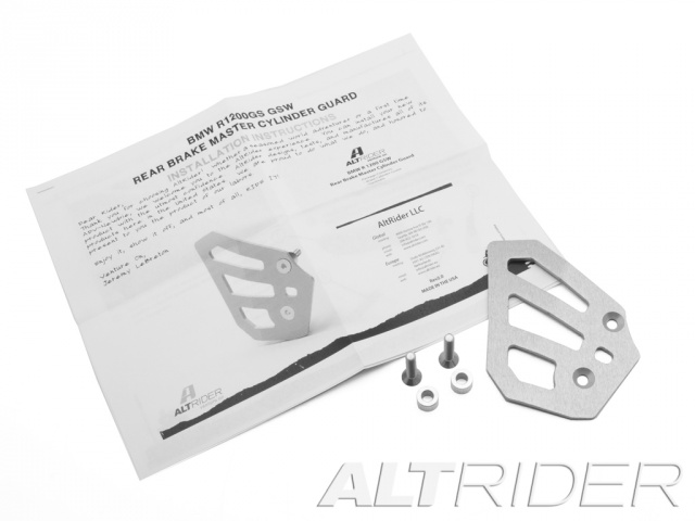 AltRider Rear Brake Master Cylinder Guard for the BMW R 1200 GS Water Cooled - Product Contents