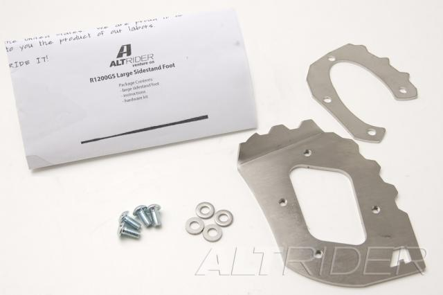 AltRider Side Stand Foot for BMW R 1200 GS - Product Contents