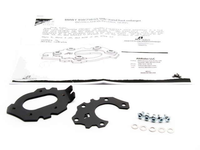 AltRider Side Stand Enlarger for the BMW F 850 / 750 GS - Additional Photos