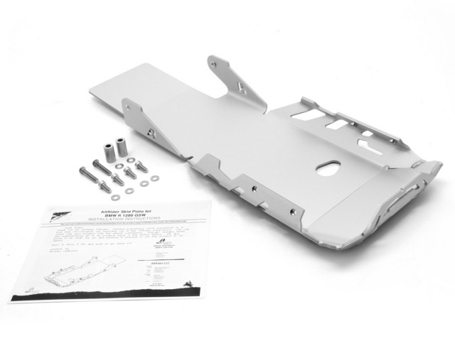 AltRider Skid Plate for the BMW R 1200 GS Water Cooled - Silver - Without Mounting Bracket - Additional Photos