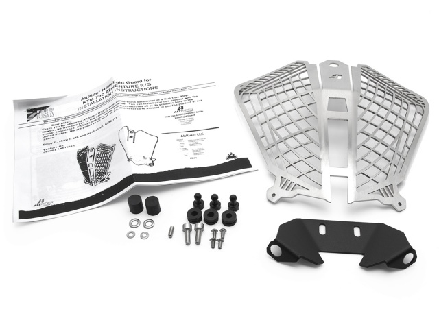 AltRider Stainless Steel Headlight Guard for the KTM 790 Adventure / R - Additional Photos