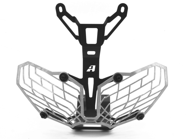 AltRider Stainless Steel Mesh Headlight Guard for the Honda CRF1000L Africa Twin/ ADV Sports - Silver - Additional Photos