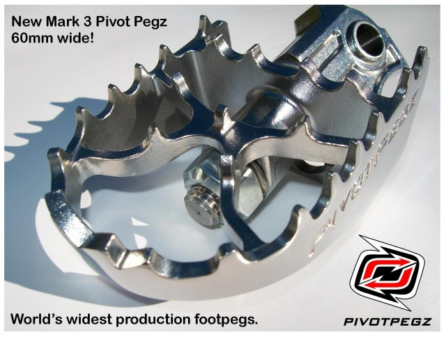 Pivot Pegz WIDE MK3 for BMW F 800/700 GS and F/G 650 GS (Single + Twin) - Additional Photos