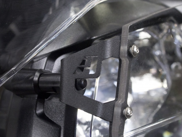 AltRider Clear Headlight Guard for the Triumph Tiger Explorer 1200 - Installed