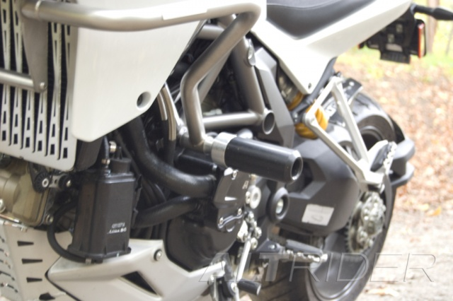 AltRider Crash Bar Frame Sliders for Ducati Multistrada 1200 - Installed