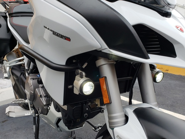 AltRider Crash Bars and Frame Slider Kit for Ducati Multistrada 1200 - Installed