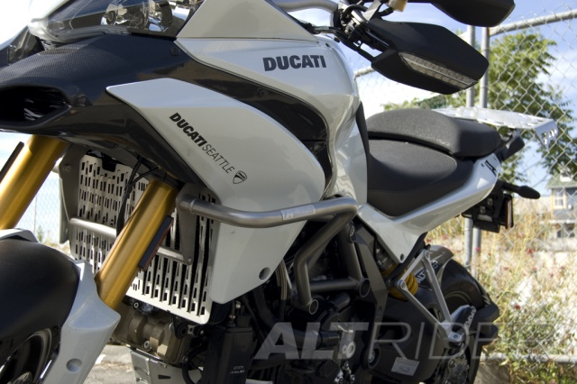 AltRider Crash Bars for Ducati Multistrada 1200 - Installed