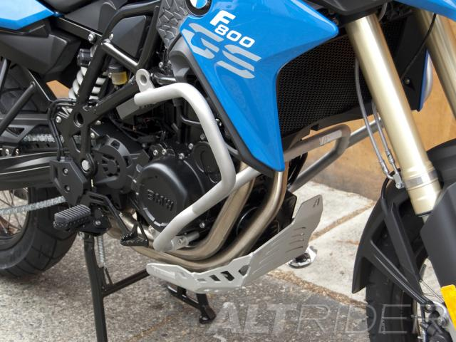 AltRider Crash Bars for the BMW F 800 GS - Red - Installed