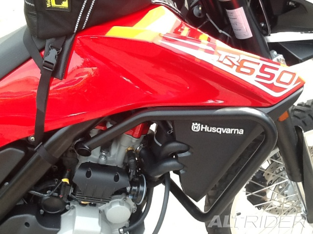 AltRider Crash Bars for the Husqvarna TR650 Terra and Strada - Installed