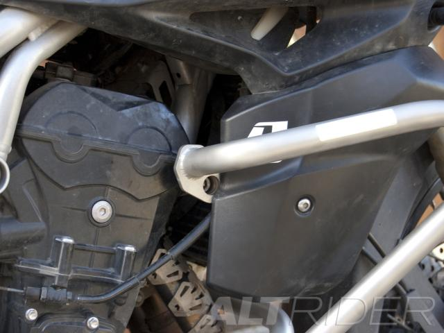 AltRider Crash Bars for the Triumph Tiger 800 - Installed