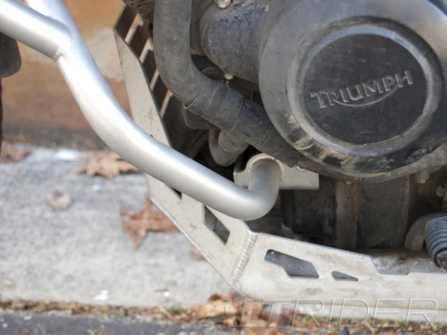 AltRider Crash Bars for the Triumph Tiger 800XC - Installed