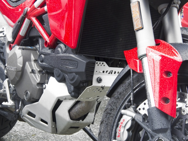 AltRider Cylinder Head Guard for the Ducati Multistrada 1200 (2015-current) - Installed