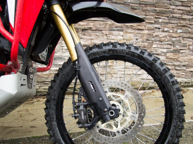 AltRider Fork Leg Guards for Honda CRF1000L and CRF1100L Africa Twin/ ADV Sports - Installed