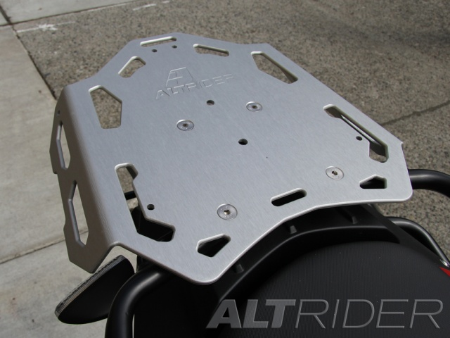 AltRider Luggage Rack for BMW F 800 GS /A - Silver - Installed