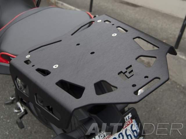 AltRider Luggage Rack for Ducati Hyperstrada - Installed