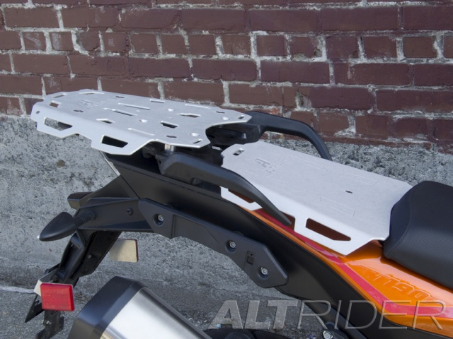 AltRider Luggage Rack System for the KTM 1050/1090/1190 Adventure / R - Silver - Installed