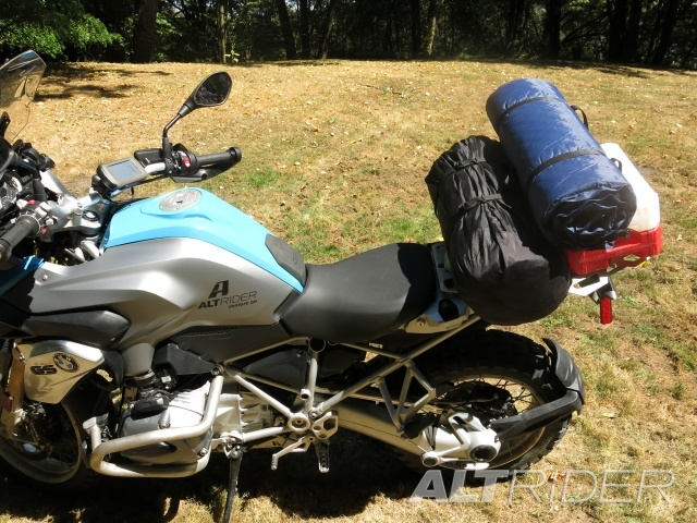 AltRider Pillion Luggage Rack for BMW R 1200 & R 1250 GS /GSA Water Cooled - Installed