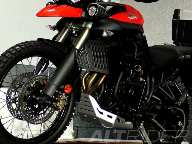 AltRider Radiator Guard for Triumph Tiger 800XC - Installed