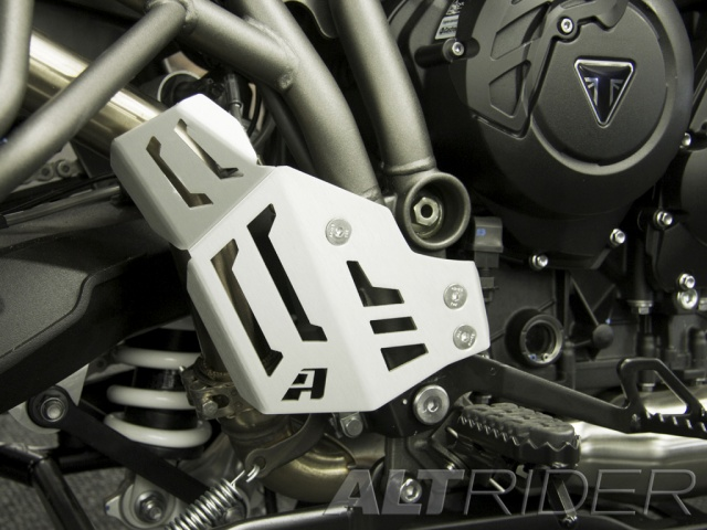 AltRider Rear Brake Master Cylinder Guard for Triumph Tiger 800XC - Installed