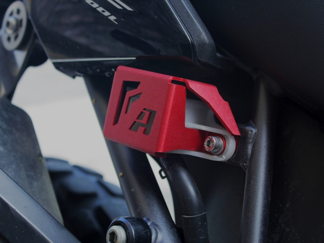 AltRider Rear Brake Reservoir Guard for the Honda CRF1000L Africa Twin/ ADV Sports - Installed