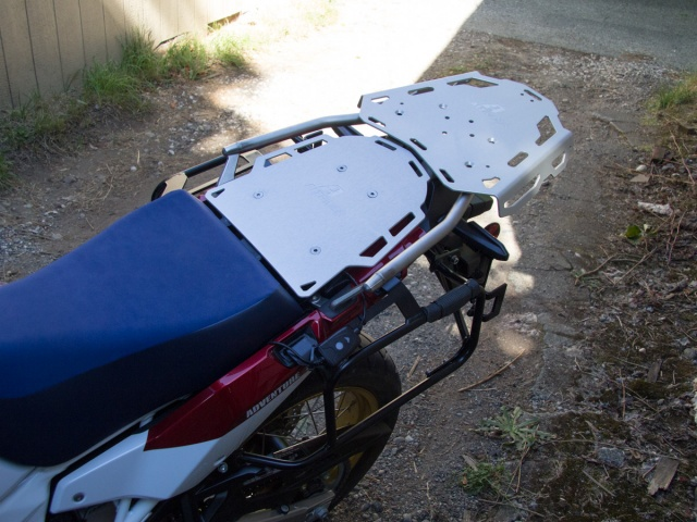 Altrider Rear Luggage Rack for the Honda CRF1000L Africa Twin Adventure Sports - Installed