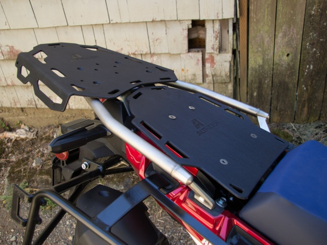 Altrider Rear Luggage Rack for the Honda CRF1000L Africa Twin Adventure Sports - Black - Installed