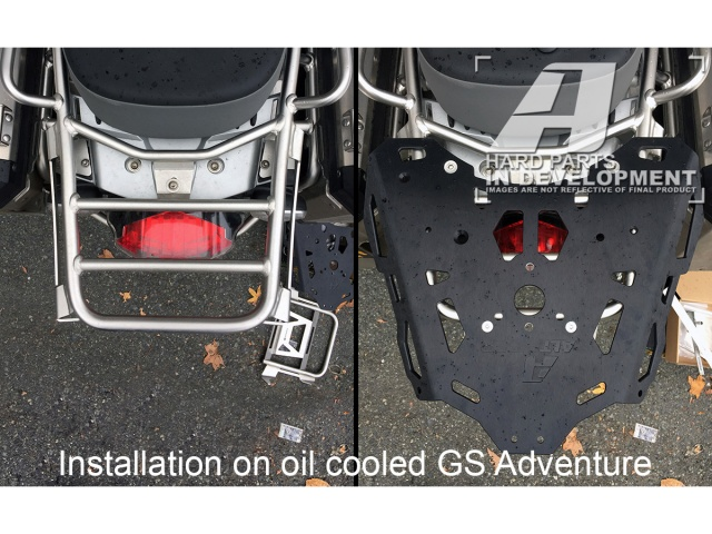 AltRider Rear Luggage Rack Kit for the BMW R 1200 & R 1250 GS Adventure - Installed