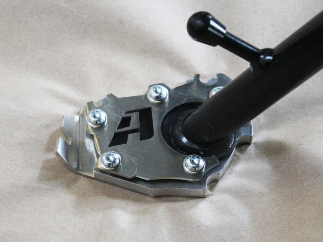AltRider Side Stand Enlarger Riser Plate for the BMW R 1200 & 1250 GS /GSA Water Cooled - Installed