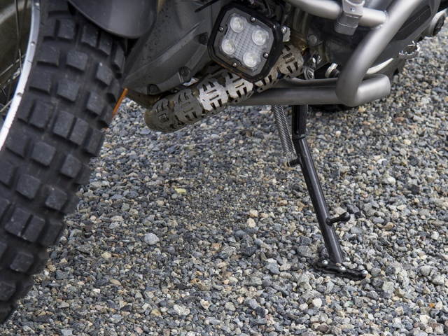 AltRider Side Stand Foot for the BMW R 1200 & R 1250 GS /GSA Lowered - Installed