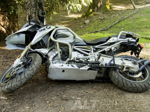 AltRider Skid Plate for the BMW R 1200 GS Water Cooled - Silver - Without Mounting Bracket - Installed
