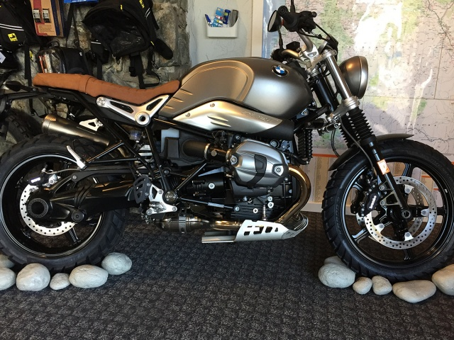 AltRider Skid Plate Kit for the BMW R nineT Models - Installed