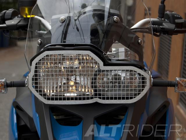 AltRider Stainless Steel Headlight Guard for the BMW F 650 / F 700 GS - Installed