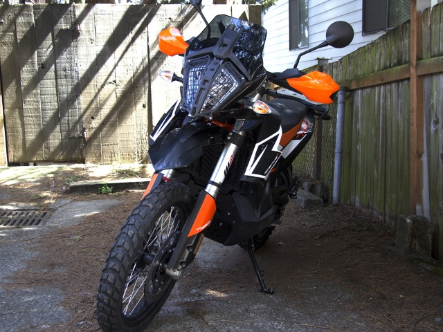 AltRider Stainless Steel Headlight Guard for the KTM 790 Adventure / R - Installed